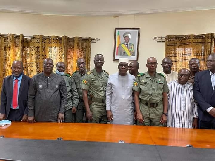 MESRS : Les responsables de l'école de guerre du Mali (EGM) reçus par le ministre Amadou Keita
